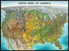 Ravensburger Jigsaw Puzzles - USA Map 1500pc $25