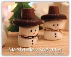 Kids Christmas Crafts Marshmallow Snowmen | best stuff