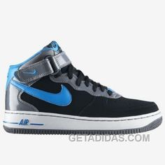 http://www.getadidas.com/nike-air-force-1-mid-shoes-black-blue-white-free-shipping.html NIKE AIR FORCE 1 MID SHOES BLACK/BLUE/WHITE FREE SHIPPING Only $54.82 , Free Shipping!
