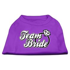 Mirage cat Products 16-Inch Team Bride Screen Print Shirt for cats, X-Large, Purple ** You can get more details here : Cat Apparel