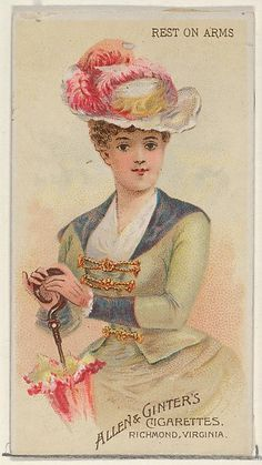 Allen & Ginter   Rest on Arms, from the Parasol Drills series (N18) for Allen & Ginter Cigarettes Brands   The Met