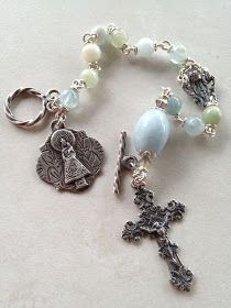 I handcraft heirloom quality gemstone rosaries in classical chain work. The rosary bead parts are vintage reproduction. Rosary Bracelet, Rosary Beads, Wire Jewelry, Jewelry Bracelets, Stone Jewelry, Jewellery, Catholic Gifts, Catholic Art, Crazy Lace Agate