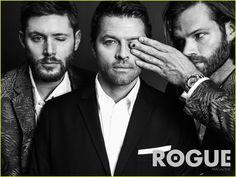 Supernatural's Jared Padalecki, Jensen Ackles, & Misha Collins Do First Magazine Photo Shoot Together!