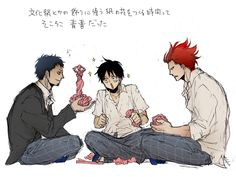Eustass Kid , Monkey D. Luffy and Eustass Kid