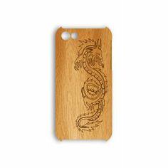 Деревянный чехол от 2stick.ru Узор извивающегося китайского дракона