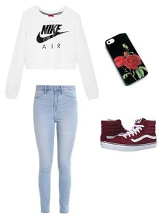 """""""Untitled #5"""" by danielaparker on Polyvore featuring Hollister Co., NIKE and Vans"""