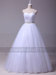 Stunning Fairytale Wedding Gown Princess Deb Dress 2014 Fashion Available in Plus Sizes on Etsy, $219.95