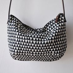 DAY BAG triangle by bookhouathome on Etsy