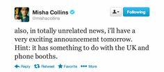 Misha Collins, the ultimate troll. Goddamn you Misha!