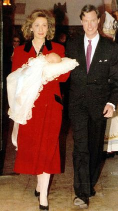 angelfire:  Christening of Prince Paul-Louis Jean Marie Guillaume of Nassau, born March 4, 1998, eldest child of Princess Sibilla and Prince Guillaume of Luxembourg, youngest son of Grand Duke Jean and Grand Duchess Josephine-Charlotte