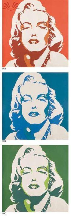 Tipo : Pinturas  Título : Marilyn Monroe  Artista : Mauricio Nogueira Lima  Ano : 1969 Técnica : Serigrafia Dim. : 219 x 73 cm