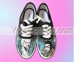 Hand Drawing Custom Universal Canvas Shoes Custom-046, New Arrival Hand Drawing Shoes, Cosplay Hand Drawing Shoes