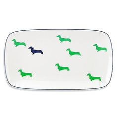 kate spade new york 15-Inch Wickford Dachsund Hors D'oeuvres Tray