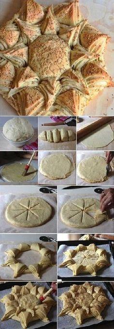 A Happy Sunflower White Bread Recipe (Diy Food Recipes) Basic Bread Recipe, Bread Recipes, Cooking Recipes, Bread Shaping, Bread Art, White Bread, Snacks, Food Humor, Macaron