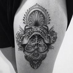 coolTop Geometric Tattoo - Leopards!!! Thanks Ryan! #leopardtattoo #patternwork #animaltattoo #dotwork #meh... Check more at http://tattooviral.com/tattoo-designs/geometric-designs/geometric-tattoo-leopards-thanks-ryan-leopardtattoo-patternwork-animaltattoo-dotwork-meh/