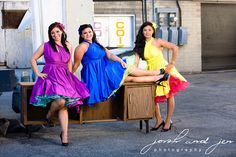 Retro Style Full Skirted Infinity Convertible Wrap Dress...68 Colors ... Car Show, VLV, Picnic, Bridesmaids, Wedding Dress, Prom via Etsy