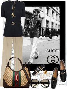 """""""Jackie O Style, By Gucci."""" by irishrose1 on Polyvore. Jackie O is the quintessential first lady fashion icon...love her."""