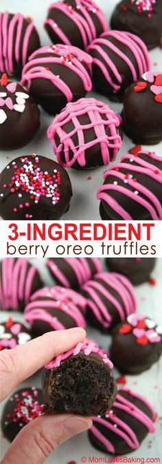 Give your sweetie homemade Berry Oreo truffles. They taste like they're from an expensive chocolatier and so easy to make!