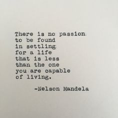 Nelson Mandela Life Quote Typed on Typewriter by LettersWithImpact