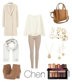 """""""ice-skating date 4"""" by chernaya-rina ❤ liked on Polyvore featuring 7 For All Mankind, Uniqlo, Franco Sarto, Harris Wharf London, Brioni and Cloverpost"""