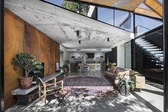 In this residential reconfiguration project in Melbourne, many restricting factors could have discouraged the home owner and the architect. The site was already very tight with the existing 90-year-old house, a separate studio and a tiny back yard. The suburb is well-established and the neighbouring sites are just as tight with the houses very close …