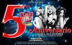 ¡Esta semana estaremos celebrando el aniversario de Coco Bongo #PlayaDelCarmen! ¿Listo para celebrar con nosotros?