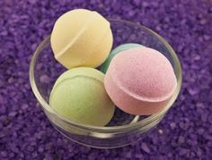 Recipe: Buttercream Bath Bombs, I love the colors.  These would make an adorable gift.