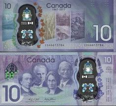 SCWPM PNew10 TBB B377a 10 Dollars Canadian Banknote Uncirculated UNC (2017)   Kate's Paper Money Buy Edibles Online, Buy Weed Online, Bank Account Balance, Money Paper, Money Worksheets, Coin Collecting, Canada, Collections, Old Coins