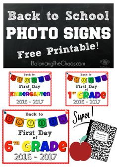 Back to School, First Day of School FREE Printable