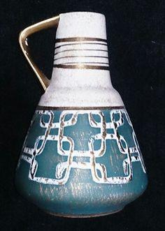 German Vase Candlesticks, German, Pottery, Vase, Ceramics, Retro, Collection, Candle Holders, Deutsch