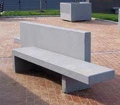 banco jardim cimento
