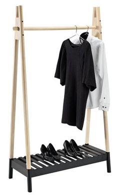 Clothes rail JENNET natural/black   JYSK