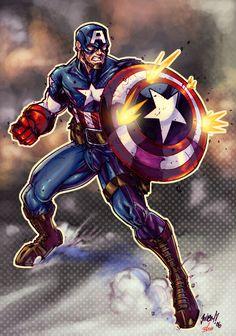 Ultimte Captain America COLOR by Jonboy007007 on @DeviantArt