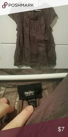 Mossimo light brown shiny top.  Size xxl Mossimo light brown shiny top.  Size xxl Tops Blouses