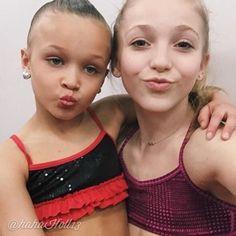 Added by #hahah0ll13 Dance Moms Brynn Rumfallo with ALDC mini Peyton Evans