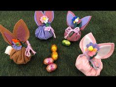 Diy easter bunny tutorial come realizzare un coniglietto porta ovetti in pannolenci easy diy - YouTube