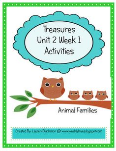 The Weekly Hive: Treasures Reading Units for each week!
