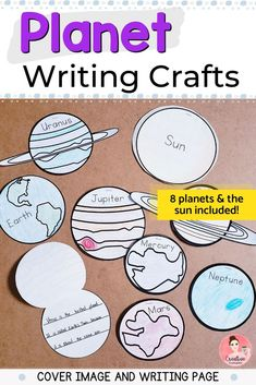 These space writing prompts allow students to write what they know about the solar system and planets. They can research what to write for each planet and/or the sun. Each student can do their own and you can use them to create a solar system or each child can make their own solar system with all of them. Kindergarten Classroom, Kindergarten Activities, Literacy Skills, Childhood Education, Solar System, Writing Prompts, Early Childhood, Planets, Students