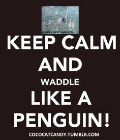 Keep Calm.....Waddle like a Penguin