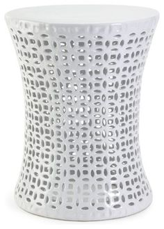 iMax Huff Cutwork Garden Stool X-07152 - contemporary - Accent And Garden Stools - Arcadian Home & Lighting