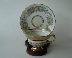 Vintage Rosina Floral and Gold English China by OurBarefootCottage.etsy.com