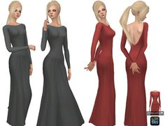 Backless Gown Recolours at Simista via Sims 4 Updates Check more at http://sims4updates.net/clothing/backless-gown-recolours-at-simista/