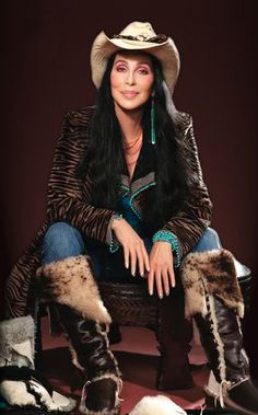 Cher I think she rocks :)   I would so wear this outfit just not the hat.