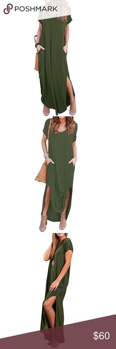 💚Loose Fit Maxi💚 💚Loose Fit Maxi💚 PERFECT for Spring & Summer with a pair of sandals or booties! 95% Rayon, 5% Spandex💚 Dresses Maxi