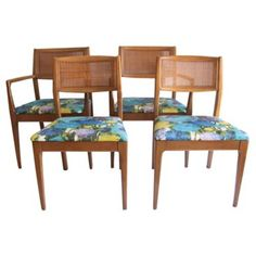 Check out this item at One Kings Lane! Mid-Century Modern Dining Chairs, S/4