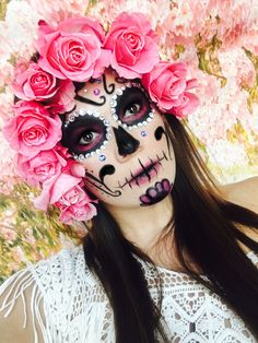Sugar Skull Halloween, Halloween Make Up, Halloween Face Makeup, Mexico Day Of The Dead, Costumes, Altar, How To Make, Ballet, Artistic Make Up