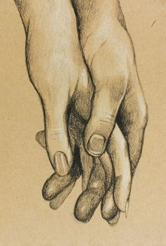 Love Consists of a Single Soul Dwelling in Two Bodies ~Aristotle -art Original Charcoal Drawing of Hands Holding by FoxAndTheCrow