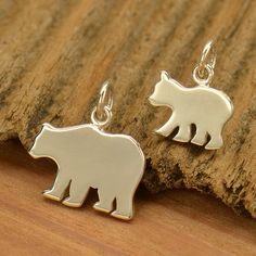 Sterling Silver Bear Charm. Mama Bear Jewelry. Mother Daughter