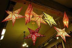 Paper Star Lanterns by joeysplanting, via Flickr
