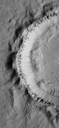 Mars carters - Very Well-Preserved 9-Kilometer Crater, Mars. 02 February 2009. Credit: NASA/JPL/University of Arizona #